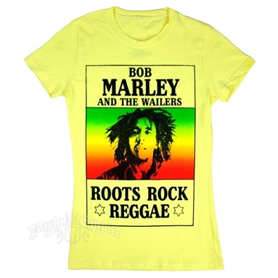 Bob Marley And The Wailers Roots Rock Reggae Yellow T-shirt - Women's