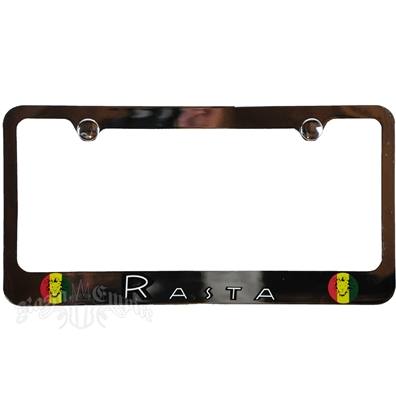 Rasta Chrome License Plate Frame