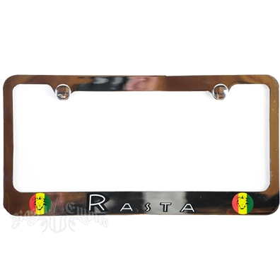 Rasta Gold License Plate Frame