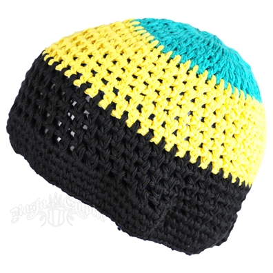 Jamaican Colors Crochet Beanie