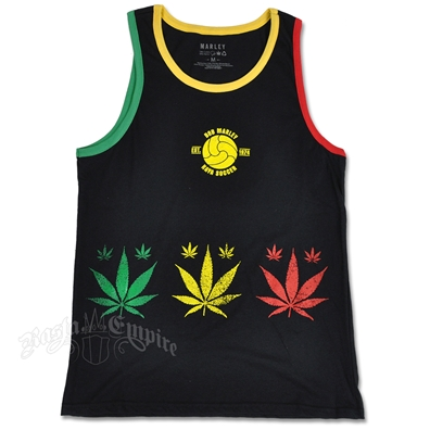 Marley Rasta Leaf Black Tank Top - Men's