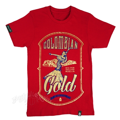 Cannabis Strain Colombian Gold Red T-Shirt – Men's