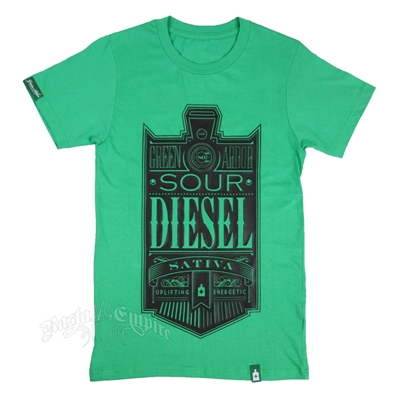 Cannabis Strain Sour Diesel Green T-Shirt - Men's