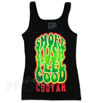Smoke Kush Feel Good Black Tank Top - Women's