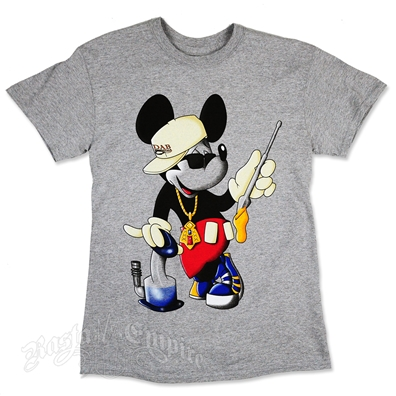 Mouse Dab Heather Grey T-Shirt - Men's
