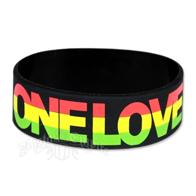 Rasta One Love Silicone Rubber Bracelet