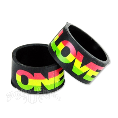 Rasta One Love Silicone Rubber Ring