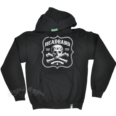 Headband Black Hoodie - Men's