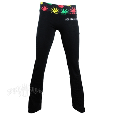Bob Marley Stir It Up Black Yoga Pants