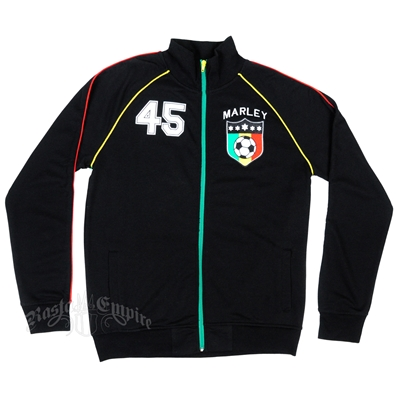 Bob Marley Rasta 45 Black Track Jacket - Men's
