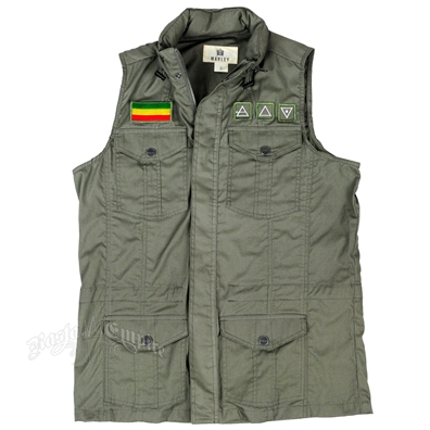 Marley Dusty Olive Military Vest - Men's