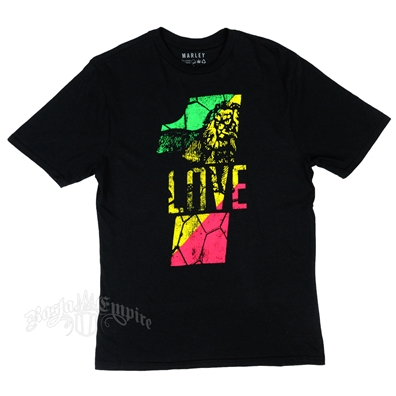 Marley One Love Lion Black T-Shirt - Men's
