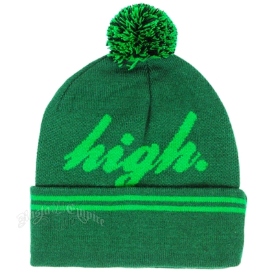 High Green Cuffed Beanie