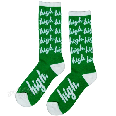 White High Green Socks