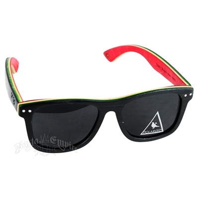 Rasta Polarized Ontario Skate Sunglasses