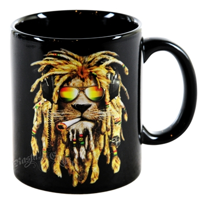 DJ LION SMOKING 11oz Coffee Cup