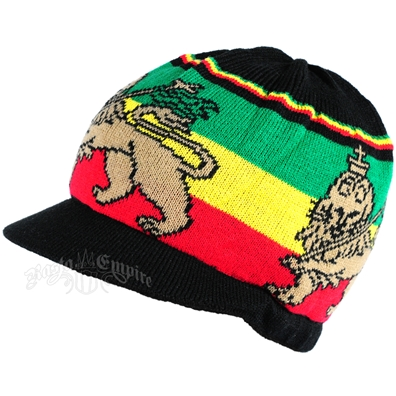 Rasta Lion of Judah Short Brim Cap