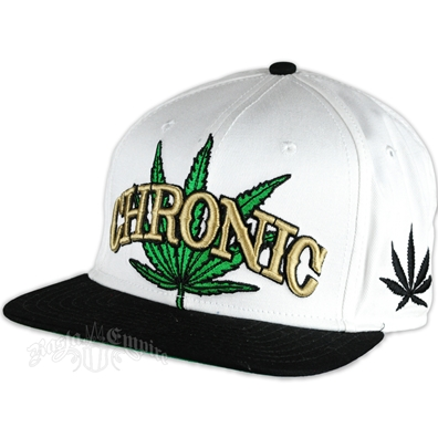 Chronic White And Black Brim Cap