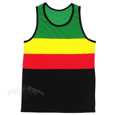 Rasta & Reggae Big Block Stripes Tank Top - Men's