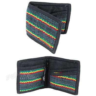 Rasta Hemp/Cotton Wallet
