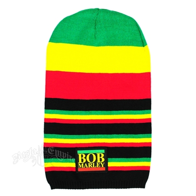 Bob Marley Multi Stripe Long Beanie