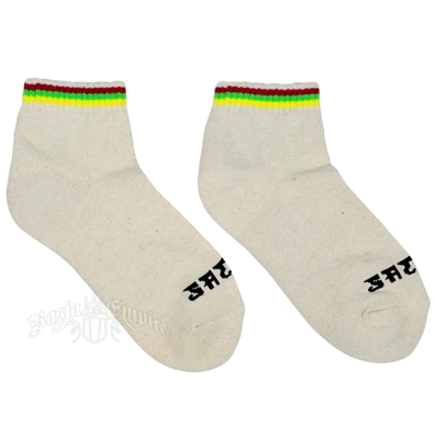 Rasta Stripes Cream Ankle Socks