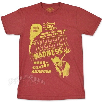 Seven Leaf Reefer Madness Heather Rusty Red T-Shirt – Men's