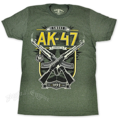 RastaEmpire AK-47 Strain Heather Military Green T-Shirt – Men's