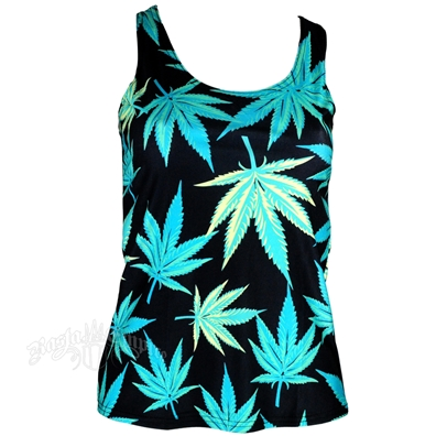 Leaf Pattern Tank Top