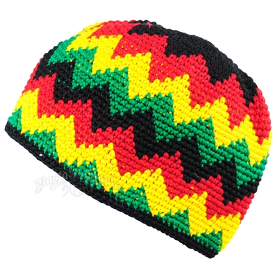 Rasta and Reggae Skull Cap