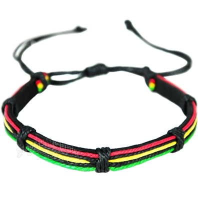 Rasta Leather Choker
