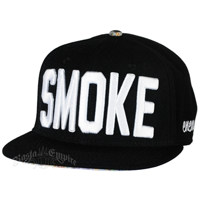 Smoke Black Snap Back Cap