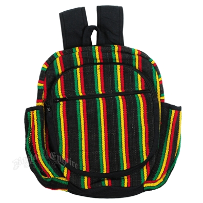 Striped Rasta Backpack - Black