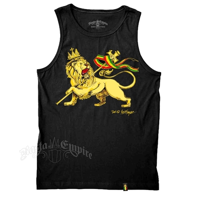 Conquering Lion of Judah Black Tank Top - Men's