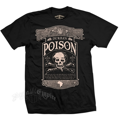 Seven Leaf Durban Poison Strain Black T-Shirt - Men's