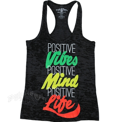 RastaEmpire Positive Life Black Burnout Tank Top - Women's