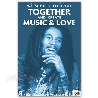 bob marley music love poster 24