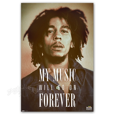 "Bob Marley Forever Poster 24"" X 36"""
