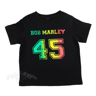 Bob Marley 45 Rasta Black T-Shirt - Toddler's