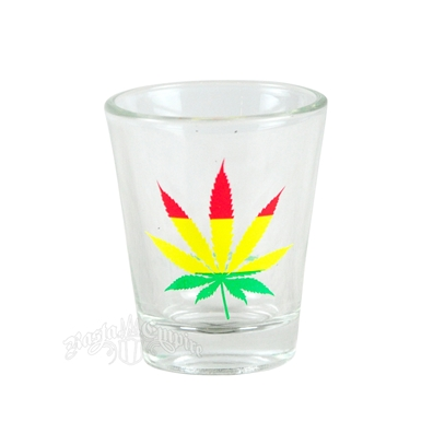 Rasta Leaf Shot Glass