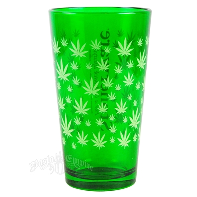 Stonerware Leaf Pattern Pint Glass