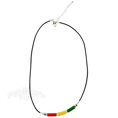Rasta Enamel Ceramic Beaded Necklace