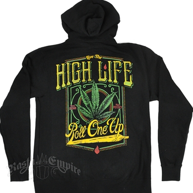 RastaEmpire High Life Black Zip Hoodie – Men's