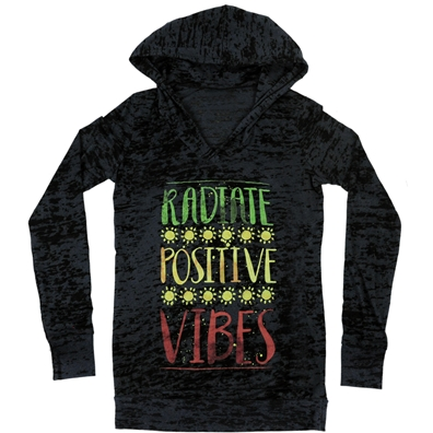 RastaEmpire Radiate Positive Vibes Hooded Long Sleeve Shirt – Women's