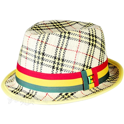 Rasta Plaid Fedora