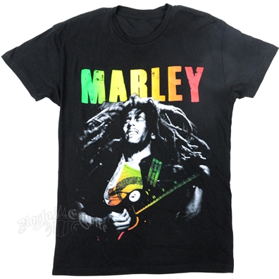 Bob Marley Jammin Gradient Black T-Shirt - Mens
