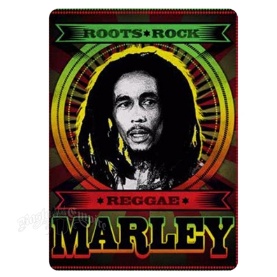 Bob Marley Roots Rock Reggae Fleece Throw