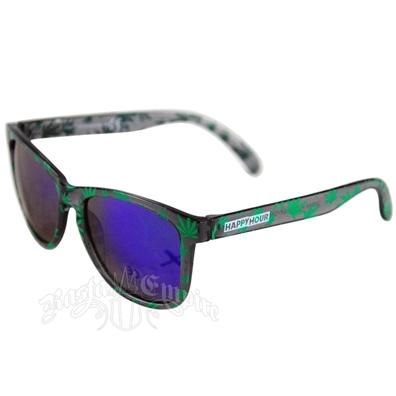 95afc5b5d7bf6 Green Marijuana Leaves High Times Sunglasses - Smoke Frame