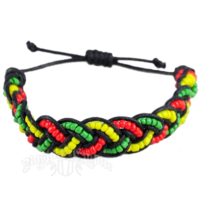 Rasta Braided Coco Beads Bracelet