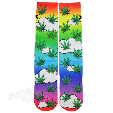 Cloud 9 Marijuana Leaf Socks